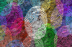 Thumbprints of different colors