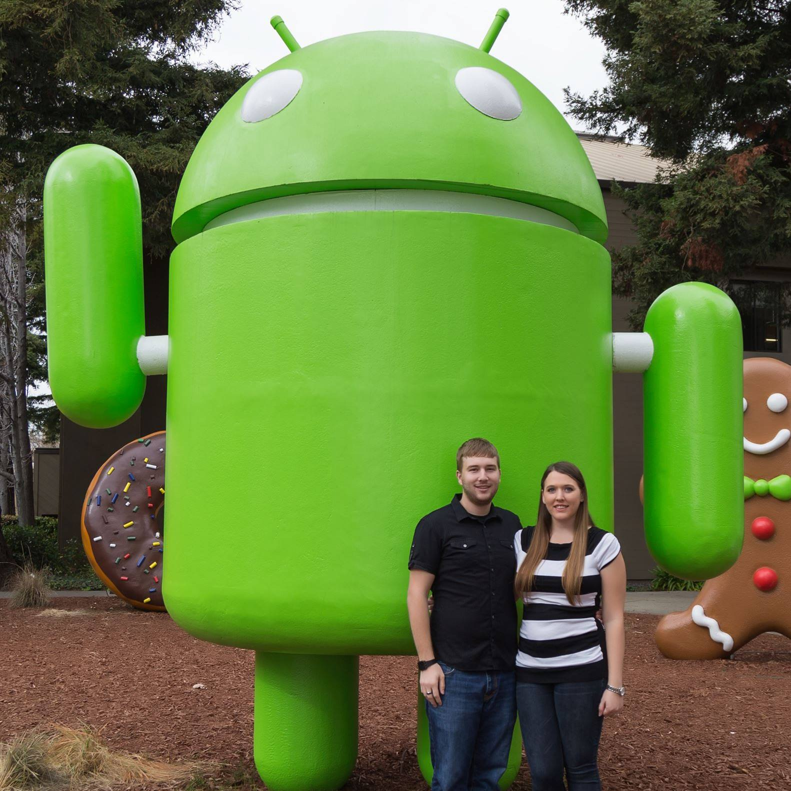 Luke and Sara with Android